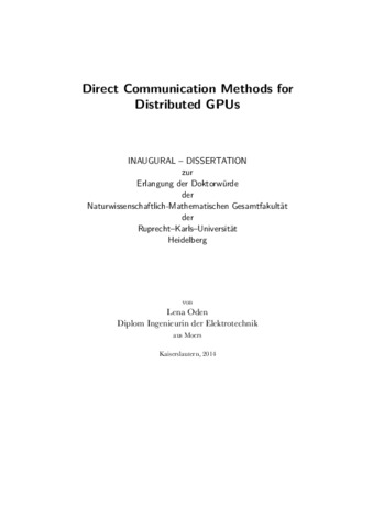 Communication and performance dissertation