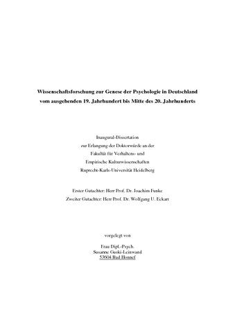 Dissertation deutschland