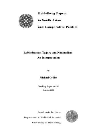 rabindranath tagore and nationalism an interpretation heidok rabindranath tagore and nationalism an interpretation