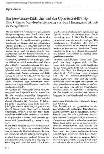 Das Prometheus Bildarchiv Und Das Open Access Prinzip Eine