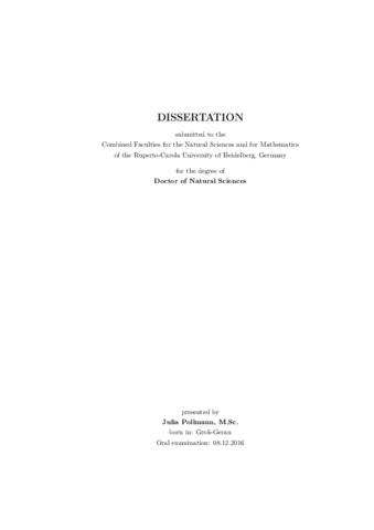 dissertation nk zellen