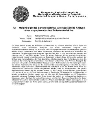kurzfassung dissertation mannheim
